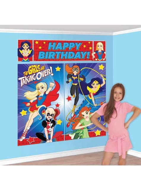 Conjunto de decoração de parede de DC Super Hero Girls