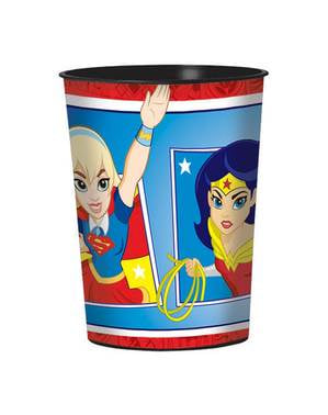 Vaso de plástico duro DC Super Hero Girls