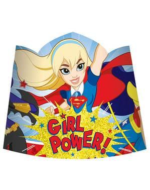 Sett med 8 DC Superhelt Jenter tiara