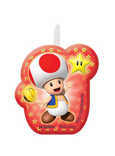 4 velas de Super Mario Bros (5,5 - 7,8 cm) - barato
