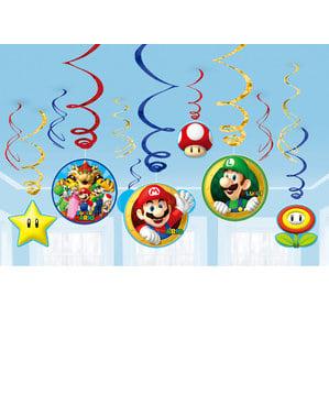 12 db Super Mario Bros függő dekoráció