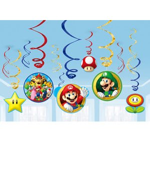 12 Super Mario Bros hanging ornaments