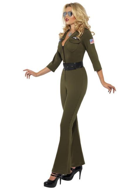 Disfraz de aviador de Top Gun para mujer - original