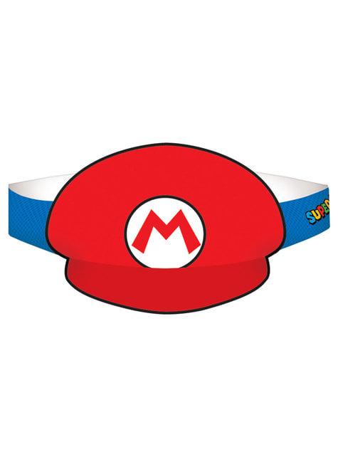 8 viseras de Super Mario Bros
