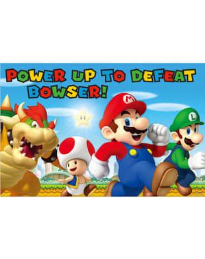 Super Mario Bros spill til barnefest
