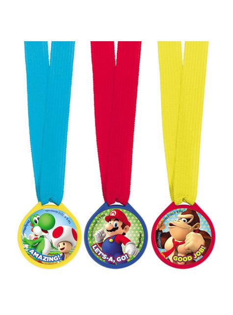 12 medallas de Super Mario Bros - para tus fiestas