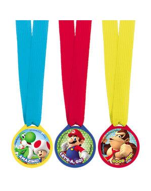 Super Mario Bros Medaillen Set 12-teilig