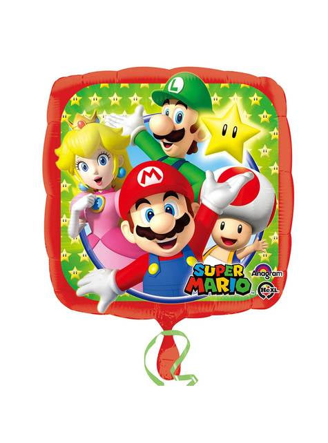 Globo cuadrado de Super Mario Bros y sus amigos