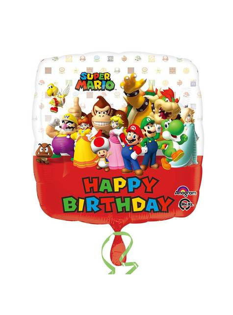 Globo cuadrado de los personajes de Super Mario Bros