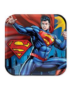 Set de 8 platos grandes de Superman