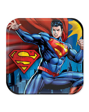 Set of 8 big Superman plates
