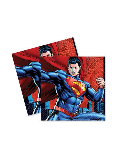 16 Superman napkings