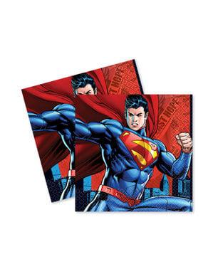 Sett med 16 Superman servietter