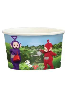 8 vasitos de helado de Teletubbies