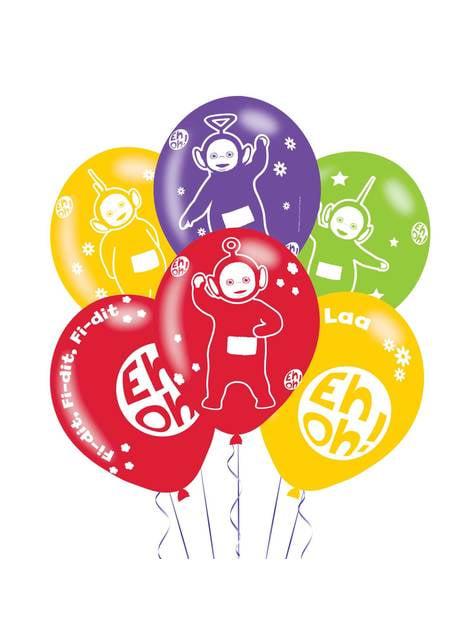 6 ballons en latex divers Teletubbies