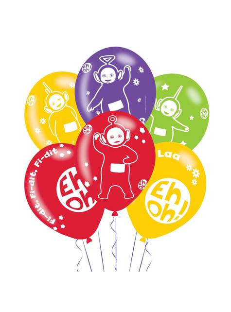 6 globos de látex variados de Teletubbies (28 cm)