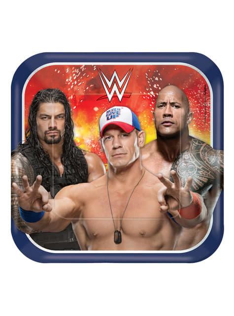 8 platos de WWE (23 cm)