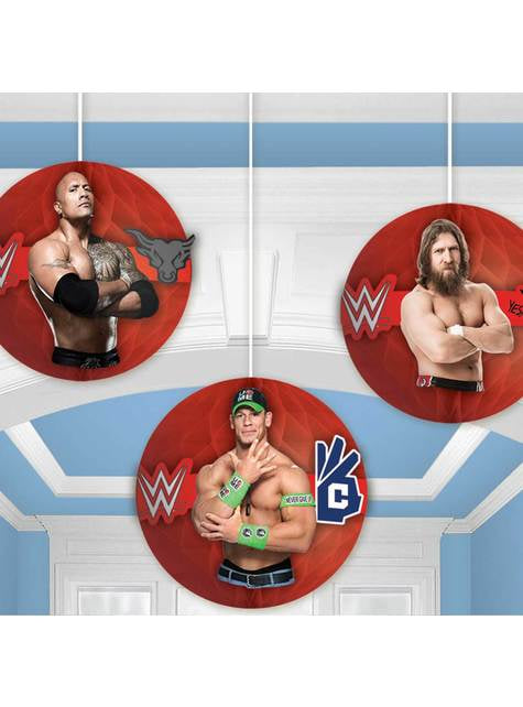3 decorações pingentes de favo de mel WWE