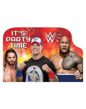 Sæt af 8 WWE invitationer