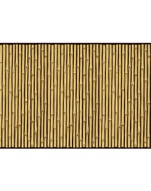 Rolo decorativo para parede havai de canas de bambu