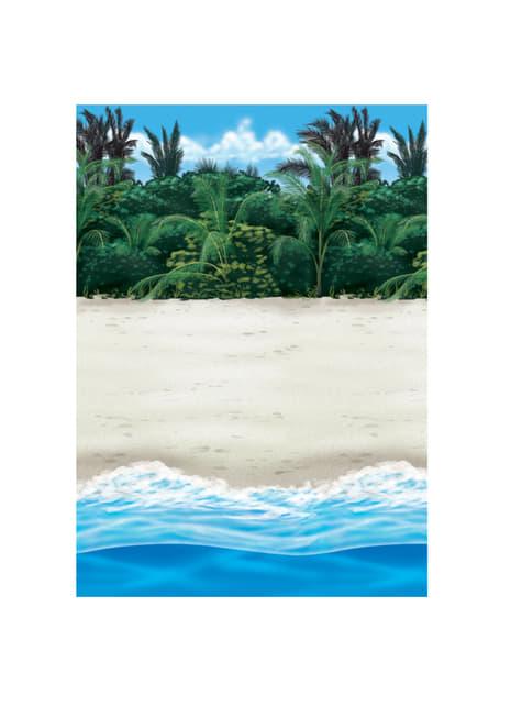 Rolo decorativo para parede havai praia