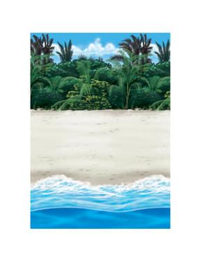 Dekorativ väggrulle hawaii strand