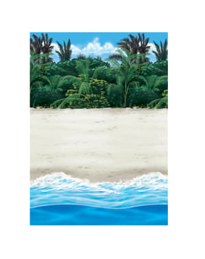 Rollo para pared decorativo hawai playa