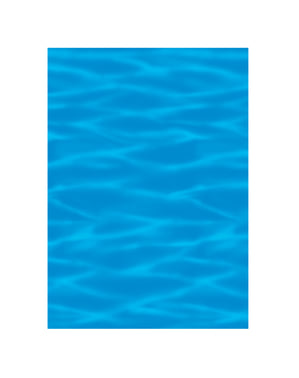 Rolo decorativo para parede havai agua