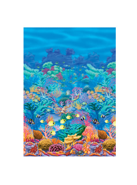 Decorative Hawaii wallpaper with coral marine background