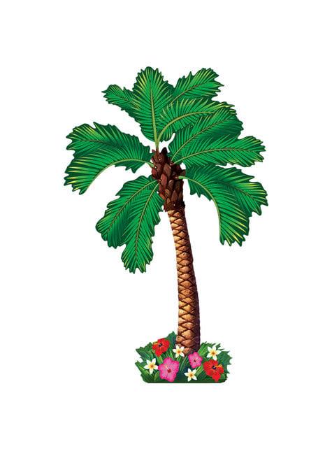 Decorative Hawaiian palm tree wall figure