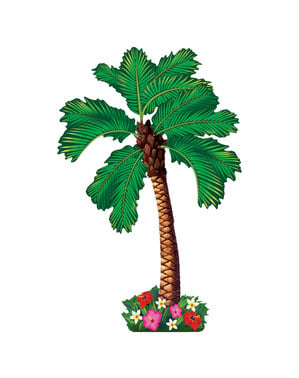 Decorative Hawaiian palm tree wall figure