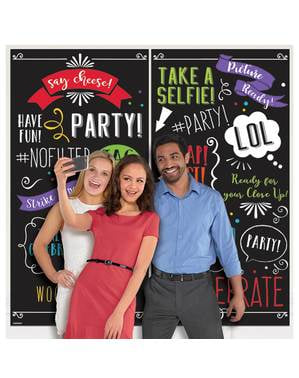Poster photobooth happy party