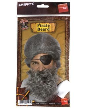 Barba de pirata cinza