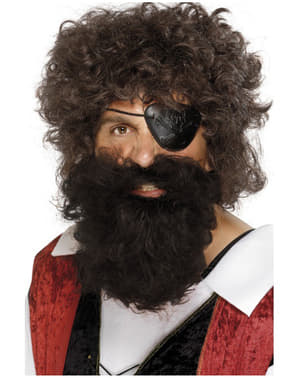 Pirátský plnovous hnědý