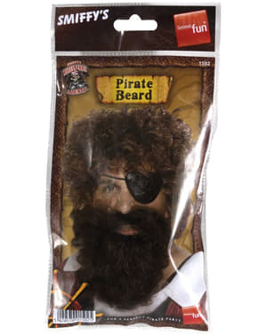 Barbe de pirate marron
