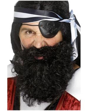 Pirátský plnovous černý
