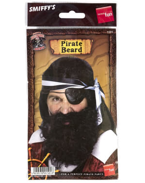 Barba de pirata preta