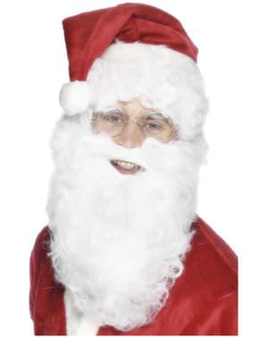 Barba di Babbo Natale economica bianca