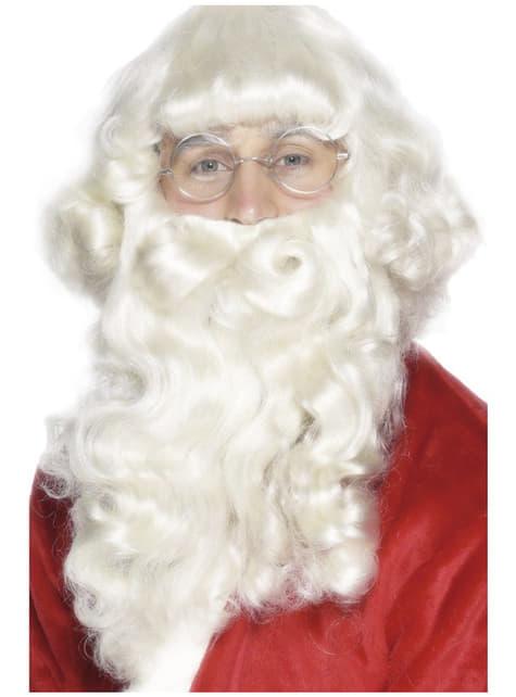 Розкішний Санта-Борода білий