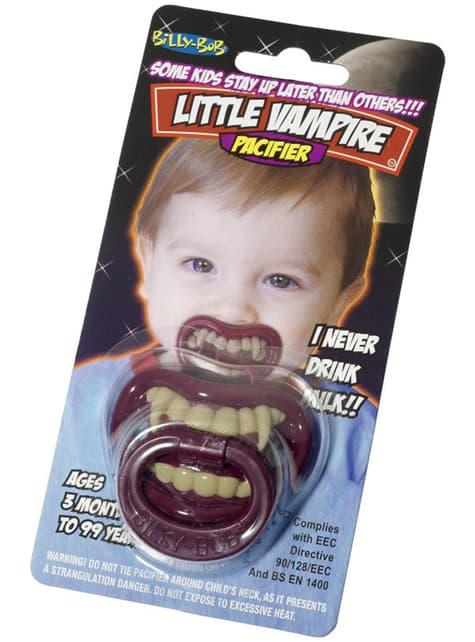 Chupete de pequeño vampiro