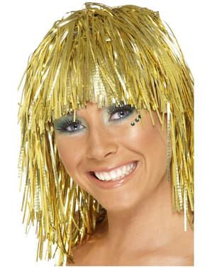 Parrucca metallizzata dorata