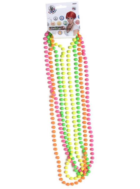 Collares de perlas de neón - para tu disfraz