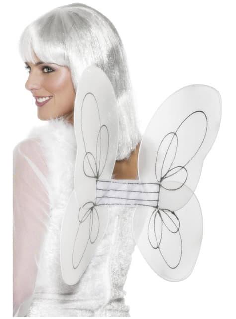 Andělská křídla třpytivá bílá