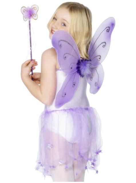 Ailes de papillon violettes