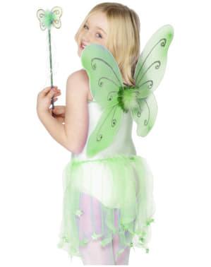 Alas verdes de mariposa