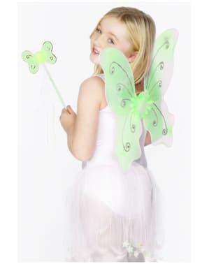 Asas verdes de borboleta