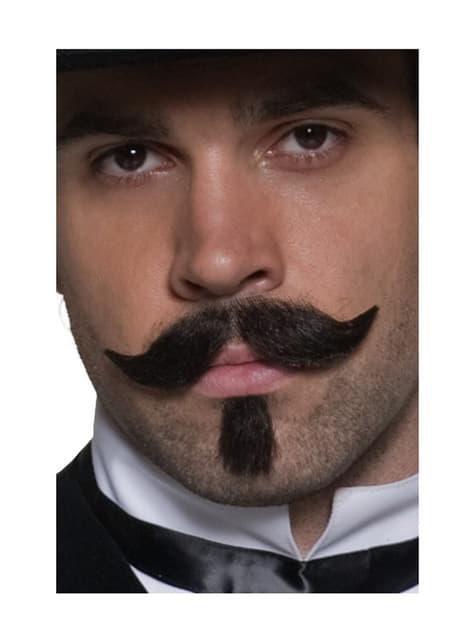 Vilda Västern Gambler Mustasch