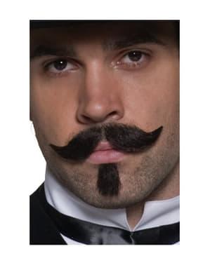 Moustache de joueur de l'Ouest