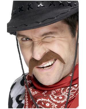 Cowboy Schnurrbart Braun