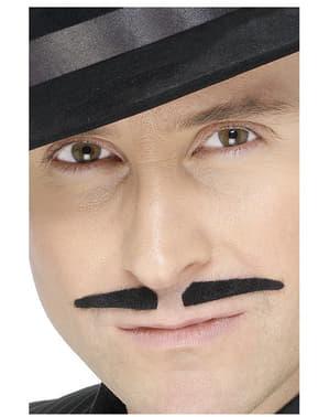 Lille to-delt overskæg